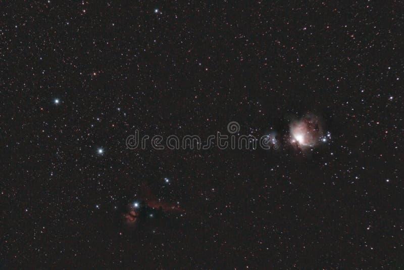Orion& x27 ; ceinture de s photographie stock