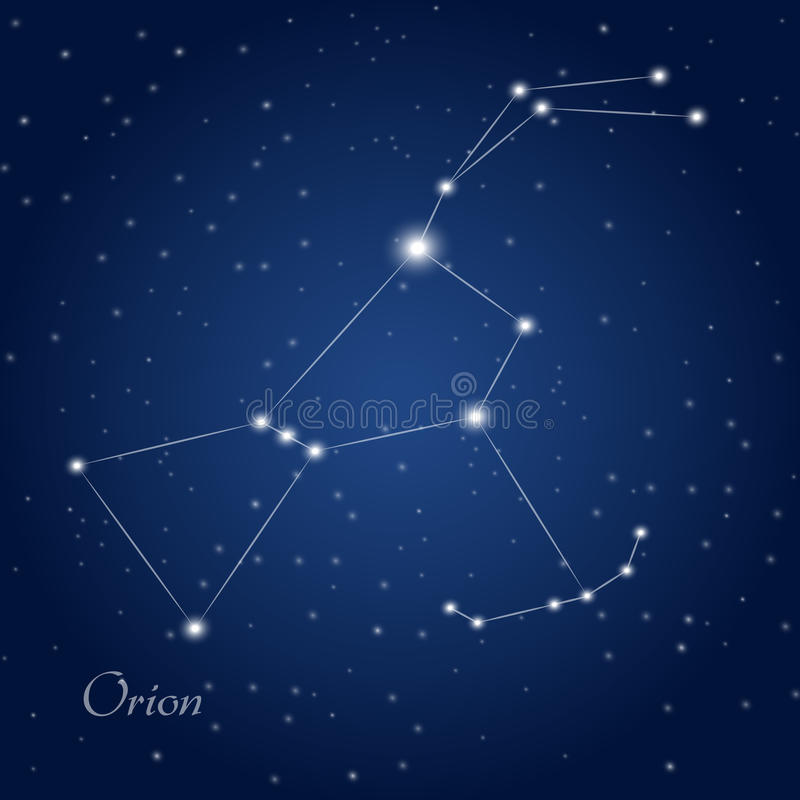 Orion Constellation royalty-vrije stock afbeelding
