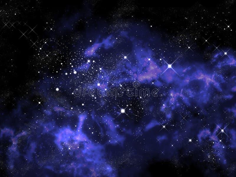 Orion dans l'univers illustration de vecteur
