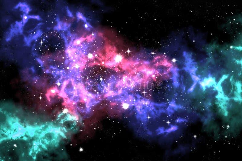 Orion e stella nella zona di spazio illustrazione di stock