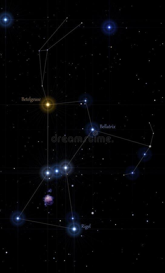 Orion gwiazdozbiór przylepiający etykietkę fotografia royalty free