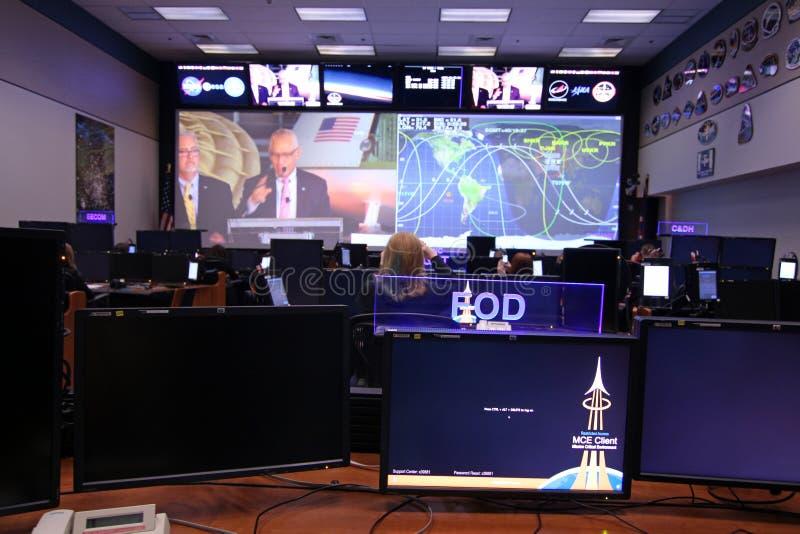 Orion Mission Control Center royalty-vrije stock foto