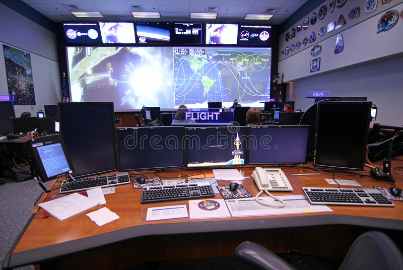 Orion Mission Control Center royalty-vrije stock foto's