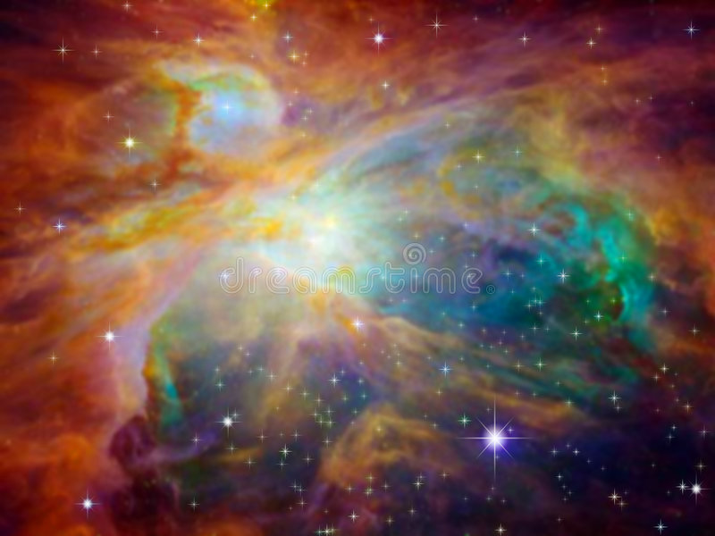 Orion-Nebelfleck lizenzfreie abbildung