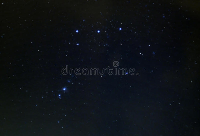 Orion constellation stars in night sky royalty free stock photos