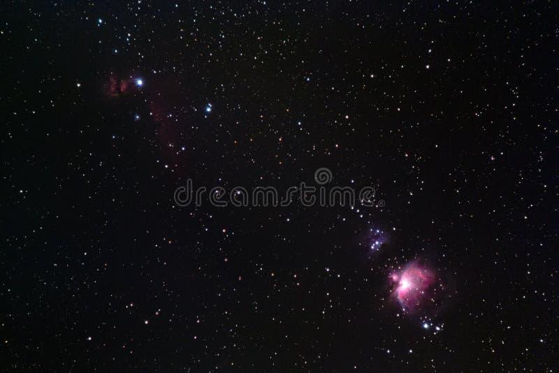 Orion Region stockfotografie