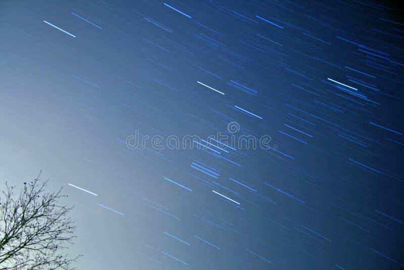orion star trails стоковое изображение rf