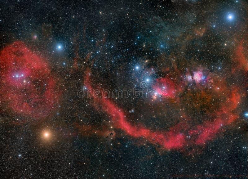 Orione in tutta la sua gloria fotografia stock
