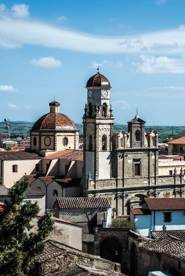 Oristano καθεδρικός ναός στοκ φωτογραφίες