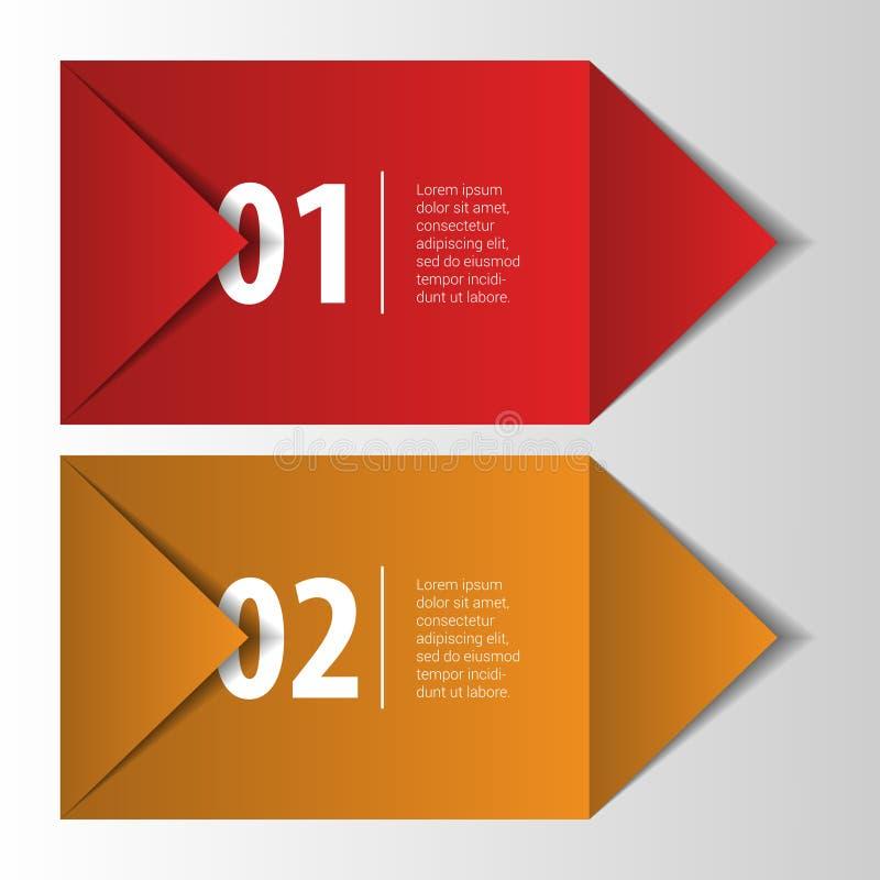 Oristick2Modern infographics元素origami样式横幅 向量 向量例证