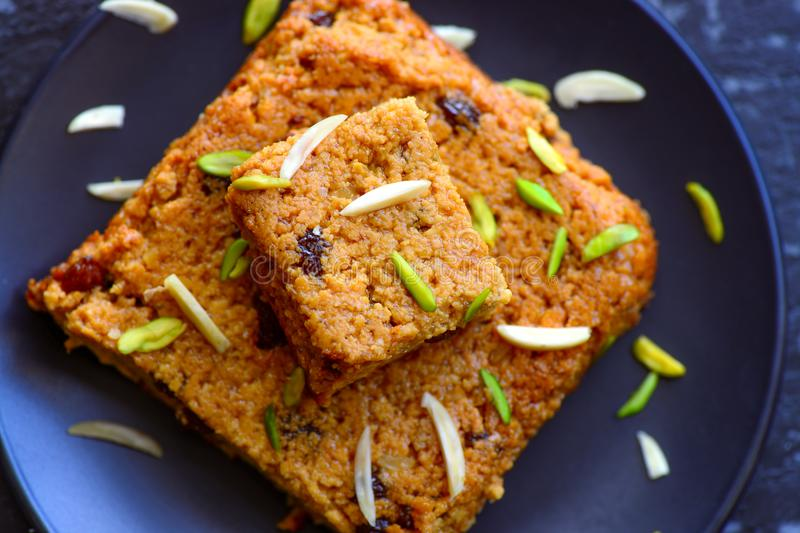 Oriya Sweet - Chenna Pudo. Chenna Pudo-is an Oriya dessert created with milk and sugar ,Indian cake created with chenna or paneer or cottage cheese baked with royalty free stock photos