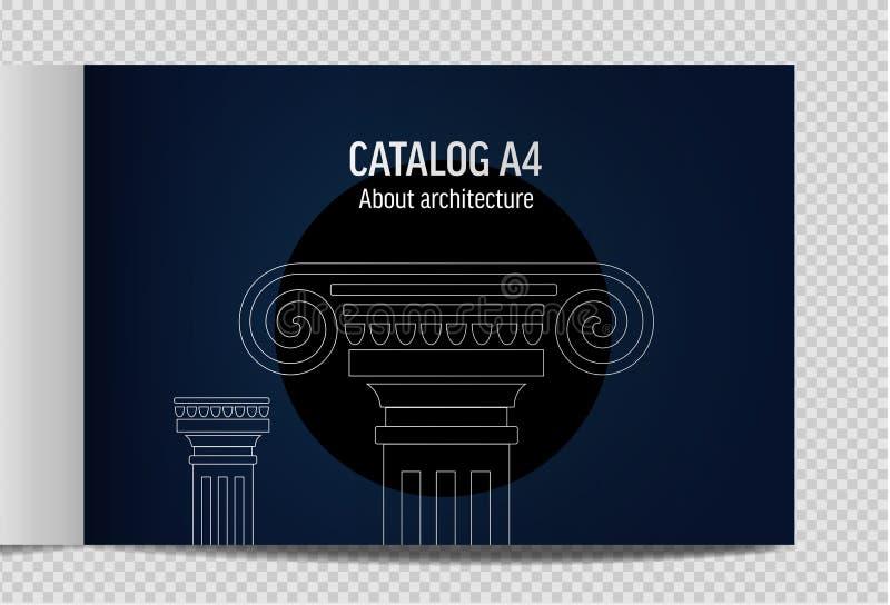 orizzontale architettura antica dell'illustrazione di vettore di progettazione del lineart illustrazione di stock