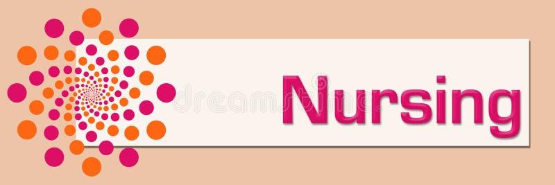 Orizzontale bianco rosa arancione di professione d'infermiera illustrazione vettoriale