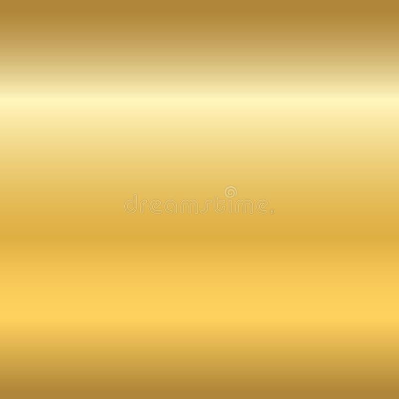 Orizzontale senza cuciture a del modello di struttura dell'oro royalty illustrazione gratis