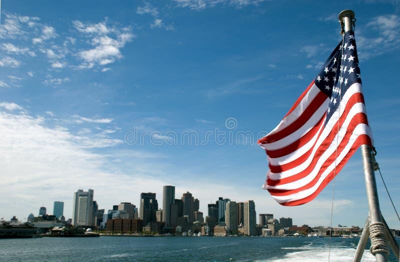 Orizzonte a Boston, S.U.A. immagine stock libera da diritti