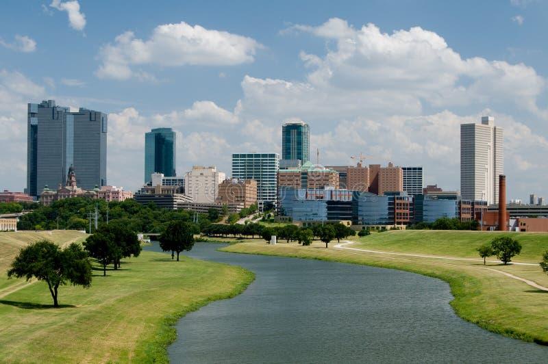 Orizzonte del centro di Fort Worth fotografia stock