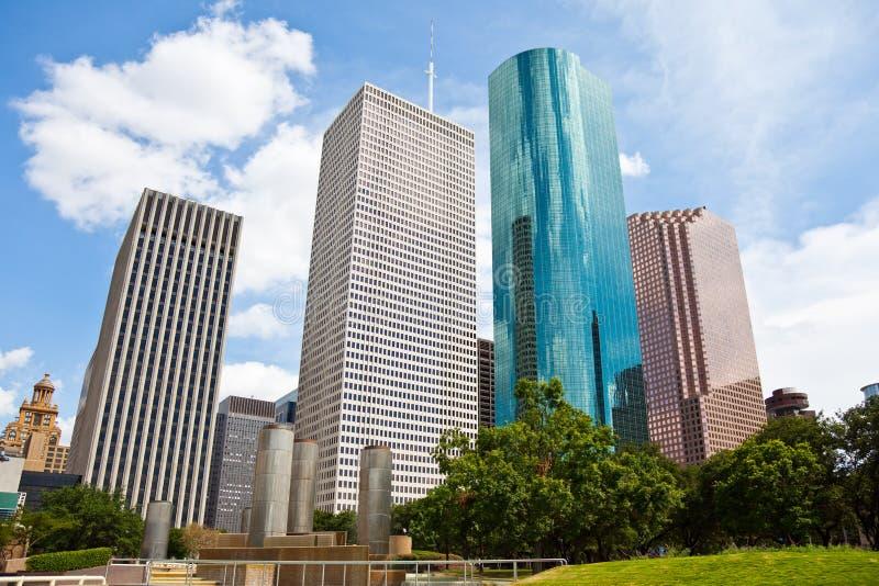 Orizzonte del centro di paesaggio urbano di Houston il Texas fotografia stock