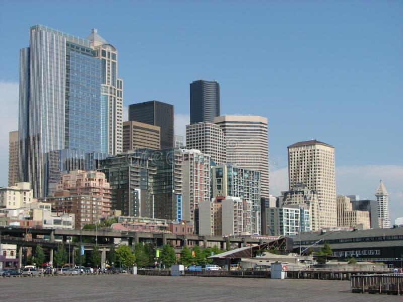 Orizzonte del centro di Seattle fotografia stock