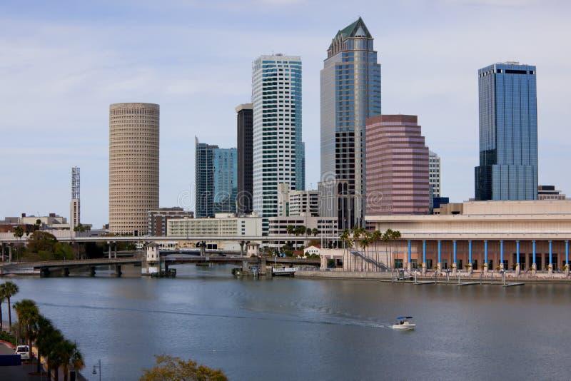 Orizzonte del centro di Tampa fotografia stock