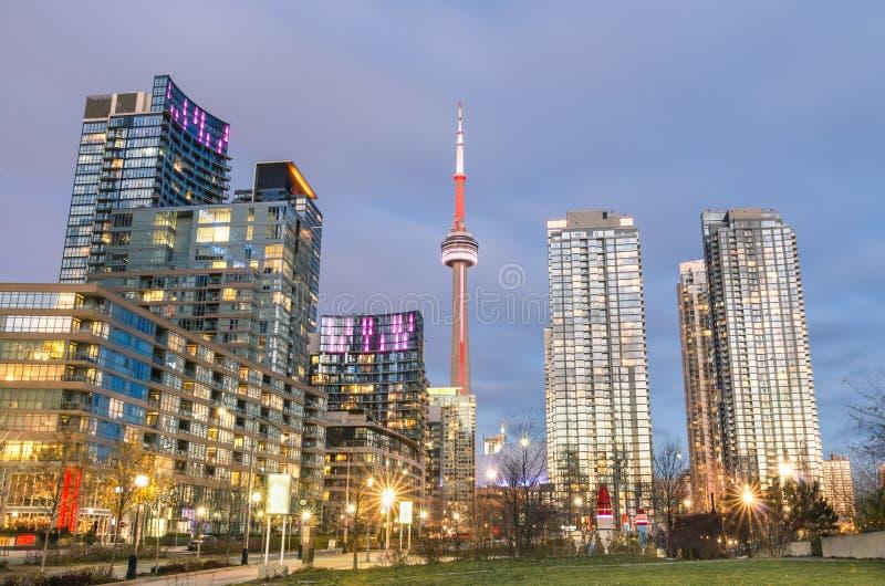 Orizzonte del centro di Toronto fotografia stock