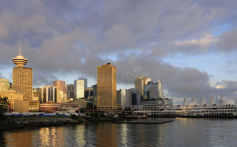 Orizzonte del centro di Vancouver fotografia stock