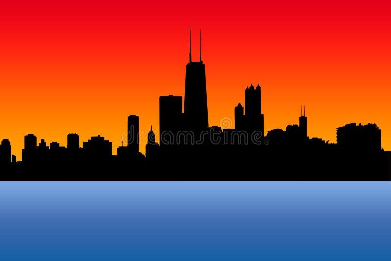 Orizzonte del Chicago illustrazione di stock