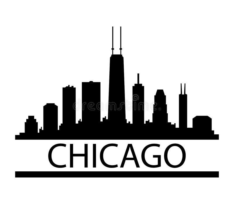 Orizzonte del Chicago royalty illustrazione gratis