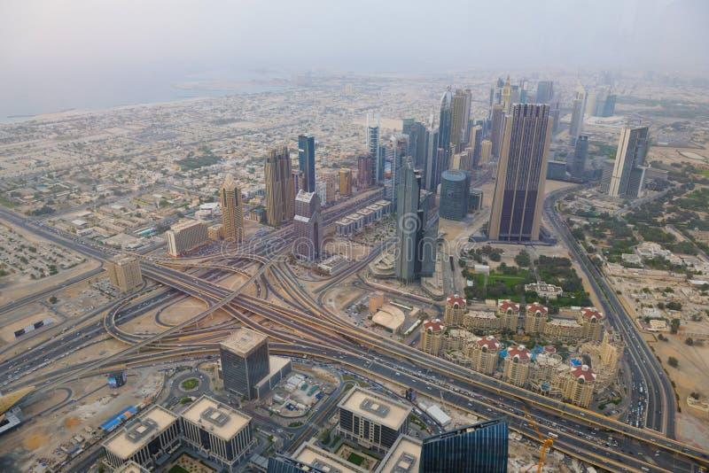 Orizzonte del Dubai fotografia stock