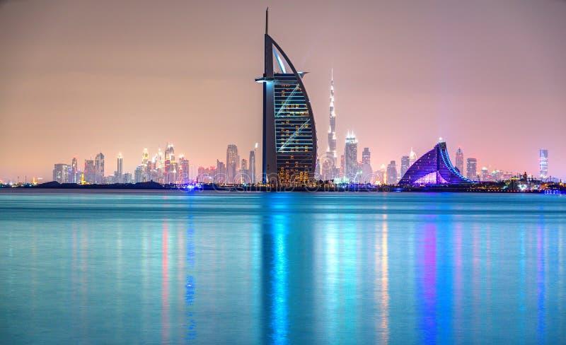 Orizzonte del Dubai, Dubai, UAE fotografie stock