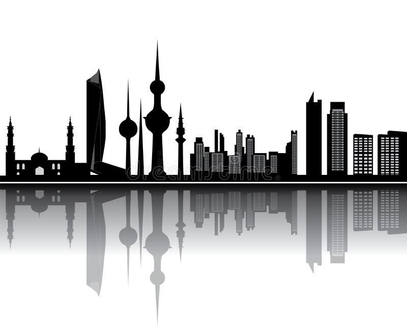 Orizzonte del Kuwait royalty illustrazione gratis