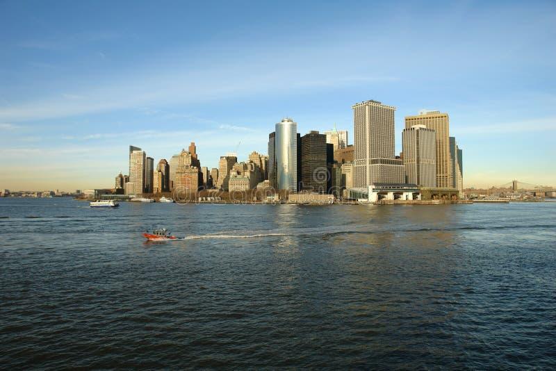 Orizzonte del Lower Manhattan immagine stock libera da diritti