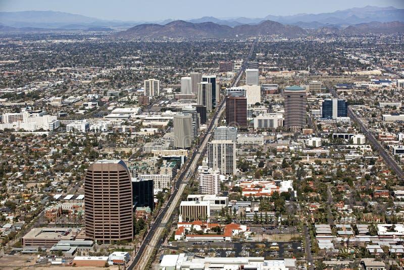 Orizzonte del Midtown Phoenix immagini stock