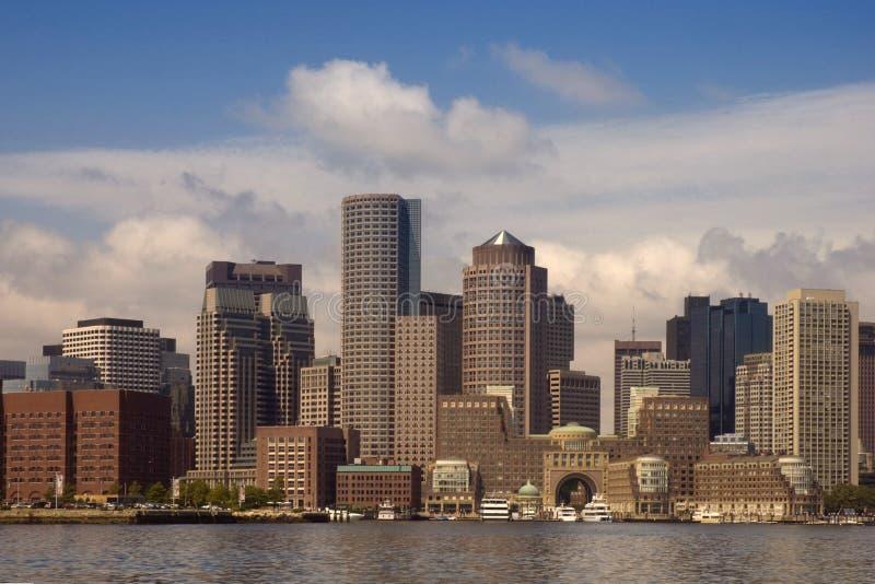 Orizzonte del porto di Boston immagini stock