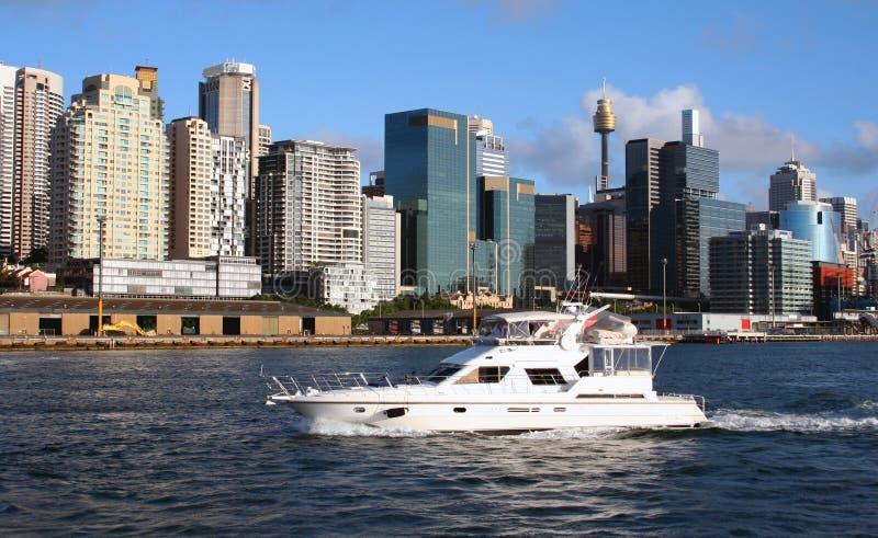 Orizzonte del porto di Sydney, Australia fotografia stock libera da diritti