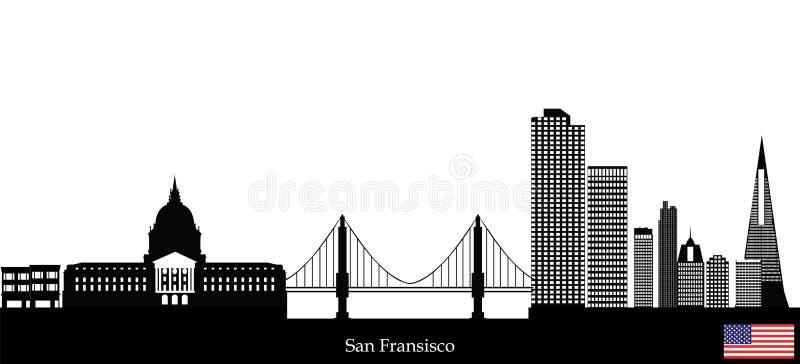 Orizzonte del San Fransisco illustrazione vettoriale