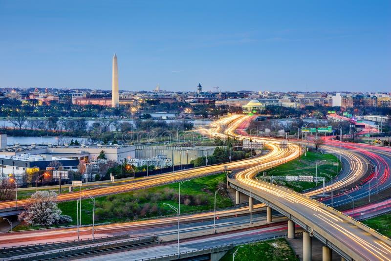 Orizzonte del Washington DC fotografia stock
