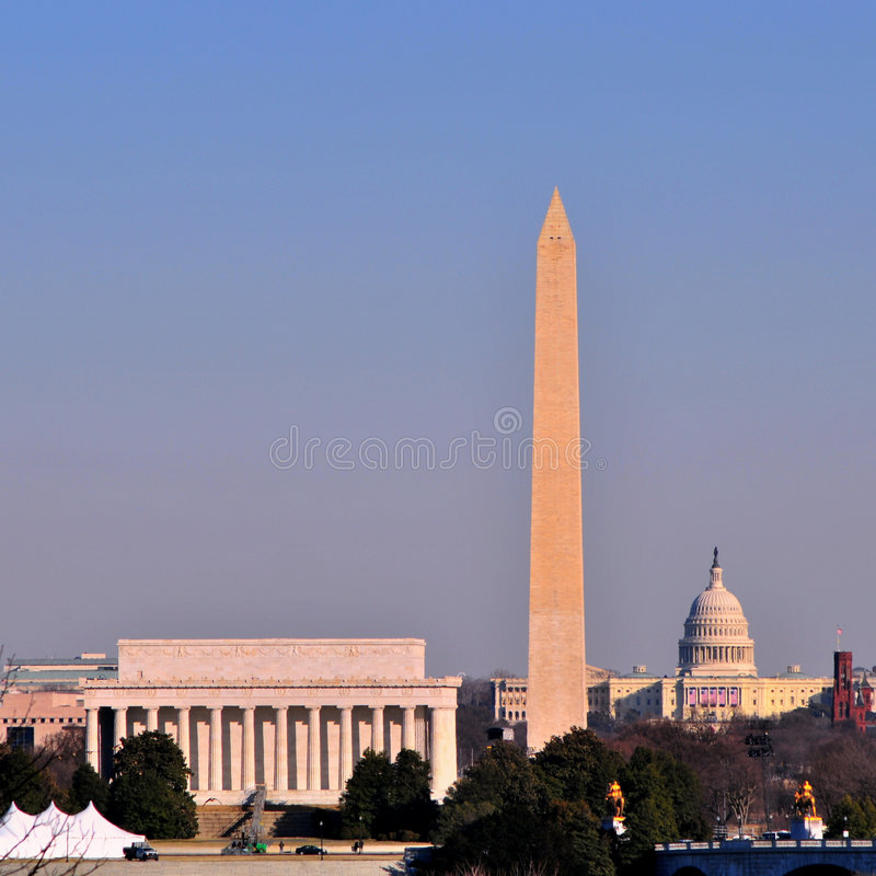 Orizzonte del Washington DC immagine stock