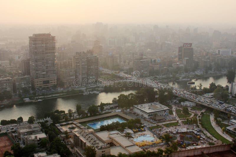 Orizzonte dell'egitto Cairo fotografia stock libera da diritti