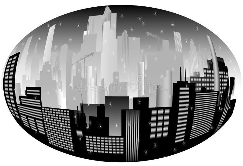 Download Orizzonte della città illustrazione vettoriale. Illustrazione di orizzonte - 7307430