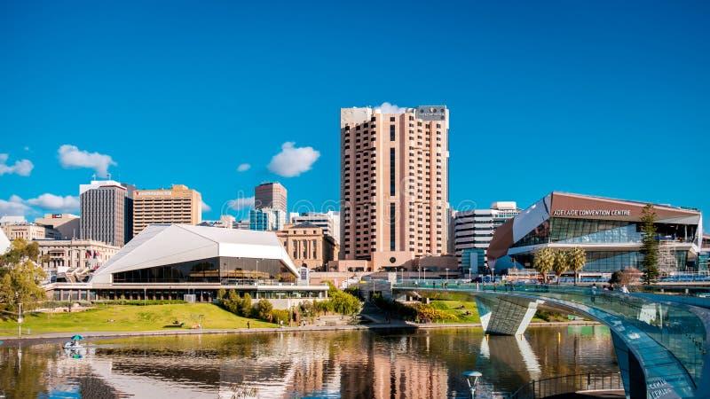 Orizzonte della città di Adelaide fotografie stock
