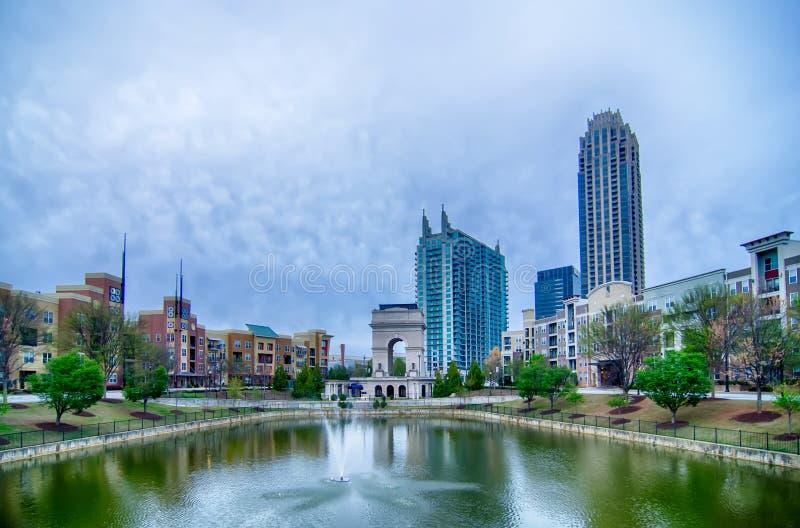 Orizzonte della città di Atlanta Georgia fotografia stock libera da diritti