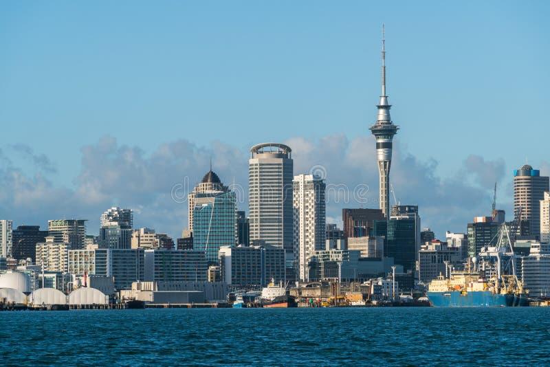 Orizzonte della città di Auckland, Nuova Zelanda fotografia stock