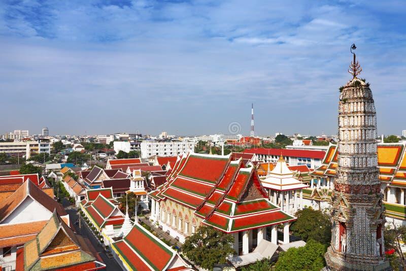 Orizzonte della città di Bangkok immagini stock libere da diritti