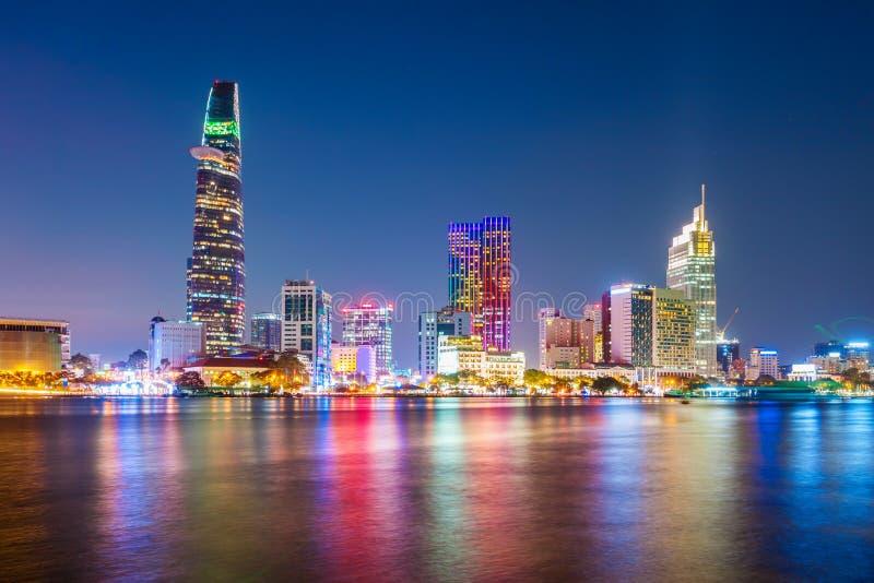 Orizzonte della città di Ho Chi Minh immagini stock