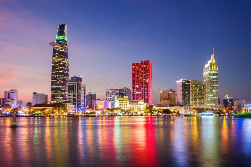 Orizzonte della città di Ho Chi Minh fotografia stock libera da diritti