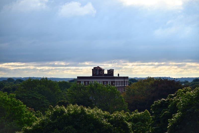 Orizzonte della città di Rochester NY di trascuratezza fotografia stock