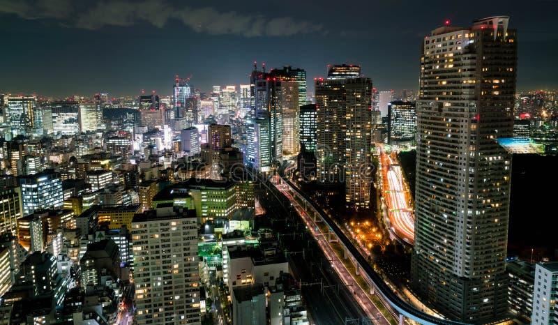 Orizzonte della città di Tokyo al crepuscolo fotografie stock