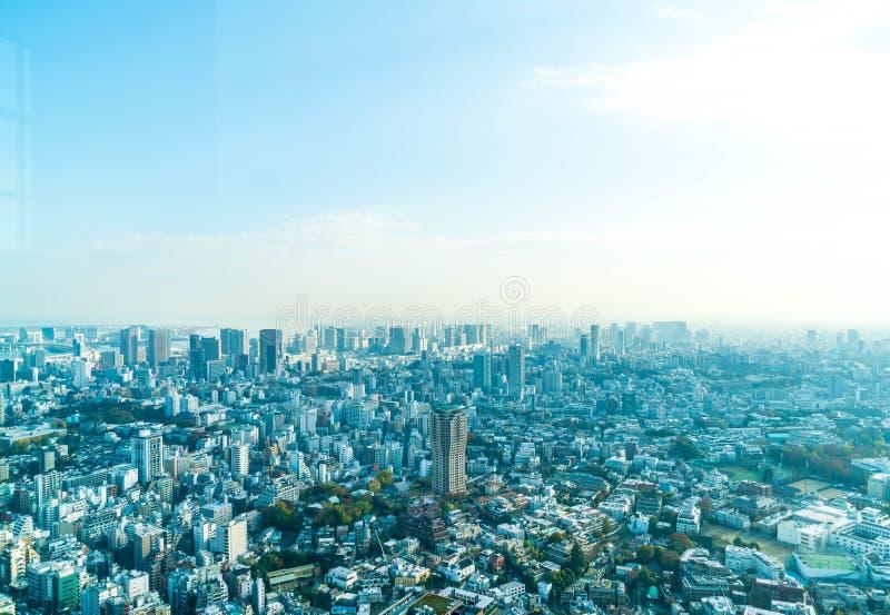 Orizzonte della città di Tokyo con la torre di Tokyo fotografia stock