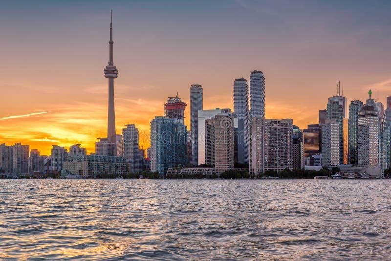 Orizzonte della città di Toronto immagini stock libere da diritti