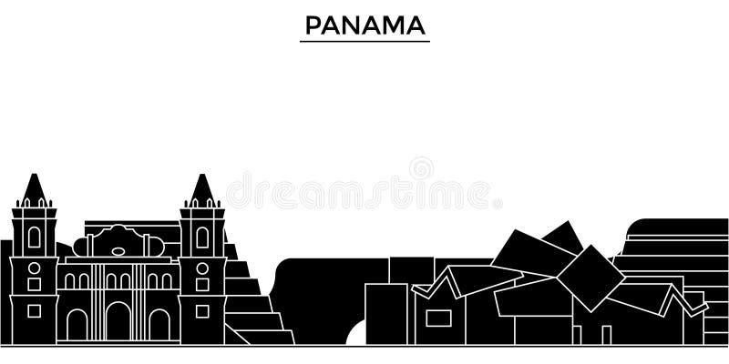 Orizzonte della città di vettore di architettura del Panama illustrazione vettoriale